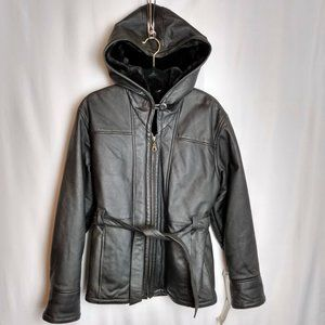 NWT Wilson's Leather Women's Belted Leather Jacket